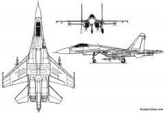 su 27 model airplane plan