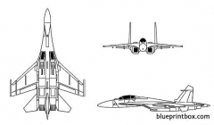 su 27 flanker model airplane plan