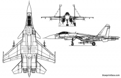 su 27k model airplane plan