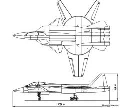 su 41 multifunctional interceptor project model airplane plan