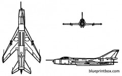 su 7b fitter model airplane plan
