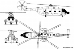 sud aviation sa 321g super frelon model airplane plan