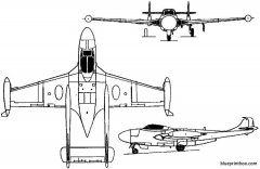 sud est aquilon 1952 france model airplane plan