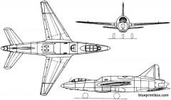 sud est se2415 grognard ii 1951 france model airplane plan