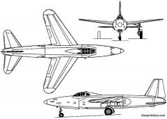 sud ouest so 6021 espadon 1950 france model airplane plan