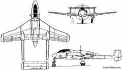 sud ouest so 8000 narval 1949 france model airplane plan