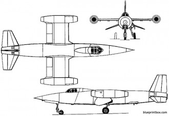 sud ouest so 9050 trident ii 1955 france model airplane plan