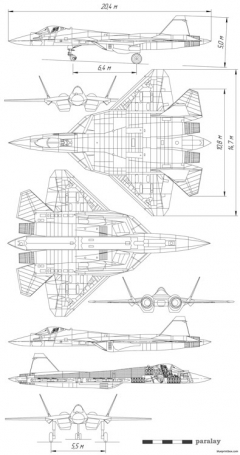 sukhoi pak fa model airplane plan