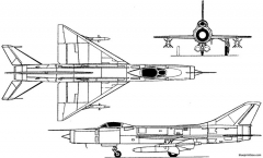 sukhoi su 11 ii 1961 russia model airplane plan
