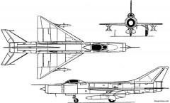 sukhoi su 11 ii 1961 russia model airplane plan