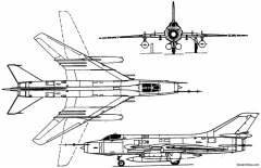 sukhoi su 17 1966 russia model airplane plan