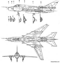 sukhoi su 17 fitter model airplane plan