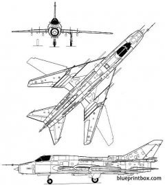 sukhoi su 17m fitter d 2 model airplane plan