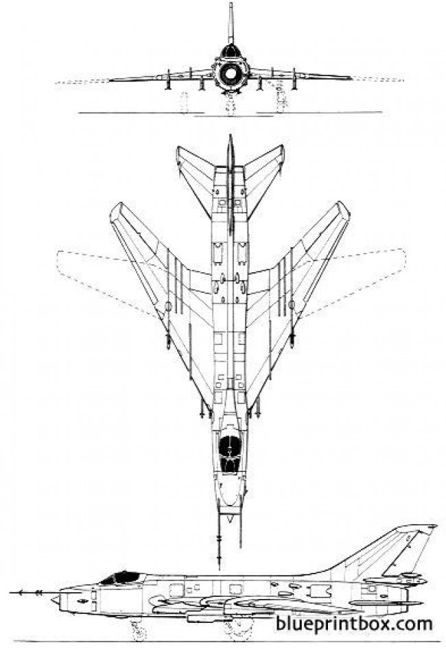 sukhoi su 20 fitter c 2 model airplane plan