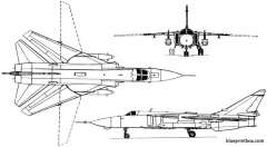 sukhoi su 24 1970 russia model airplane plan