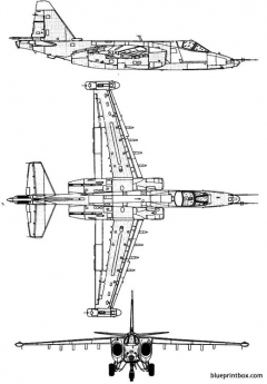 sukhoi su 25 frogfoot model airplane plan