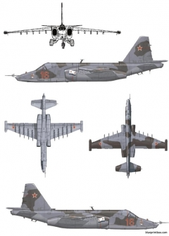 sukhoi su 25k frogfoot model airplane plan