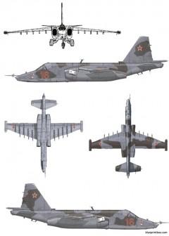 sukhoi su 25k frogfoot model airplane plan