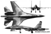 sukhoi su 27 02 model airplane plan
