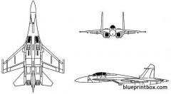 sukhoi su 27 flanker 2 model airplane plan