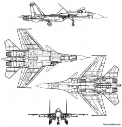 sukhoi su 27k flanker model airplane plan