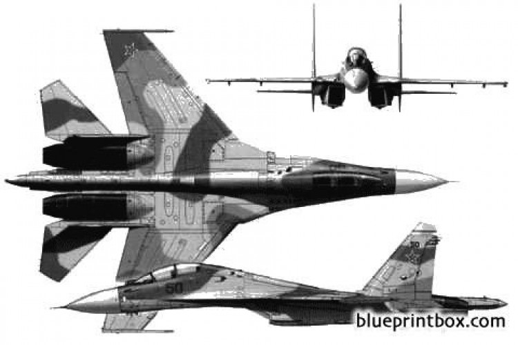sukhoi su 30mk model airplane plan