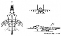 sukhoi su 32nf flanker model airplane plan