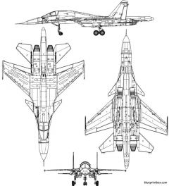 sukhoi su 34 fullback model airplane plan