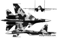 sukhoi su 35 model airplane plan