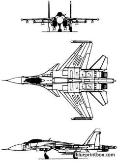 sukhoi su 35 1985 russia model airplane plan