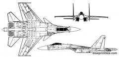 sukhoi su 37 terminator model airplane plan