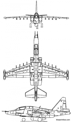sukhoi su 39 1984 russia model airplane plan