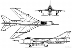 sukhoi su 7b 1959 russia model airplane plan