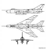 sukhoi su 7bm fitter model airplane plan