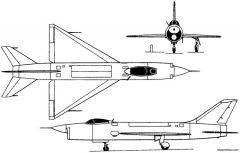 sukhoi t 3 1956 russia model airplane plan