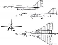 sukhoi t 4 100 1972 russia model airplane plan
