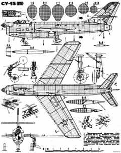 sukhojj su 15 pervejj model airplane plan
