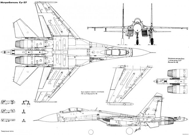 sukhojj su 27 2 model airplane plan