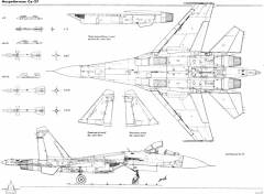 sukhojj su 27 3 model airplane plan