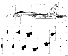 sukhojj su 37 model airplane plan