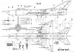 sukhojj su 9 model airplane plan