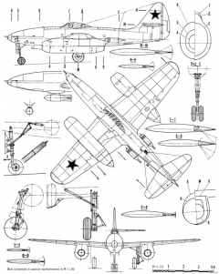 sukhojj su 9 pervyjj 4 model airplane plan