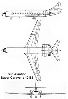 super caravelle 3v model airplane plan