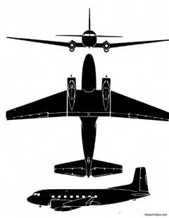 super dc 3 model airplane plan