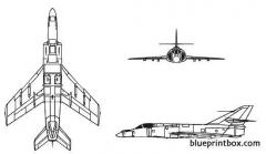 super etendard model airplane plan