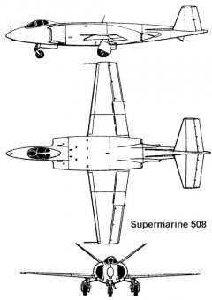 supermarine508 3v model airplane plan