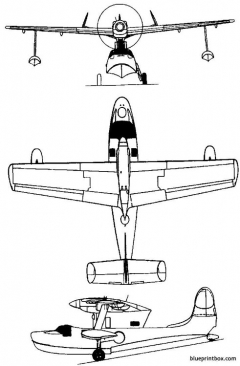 supermarine 381 seagull 1948 england model airplane plan