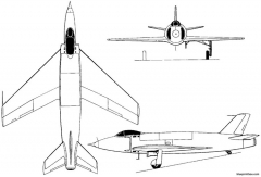 supermarine 510  535 1948 england model airplane plan