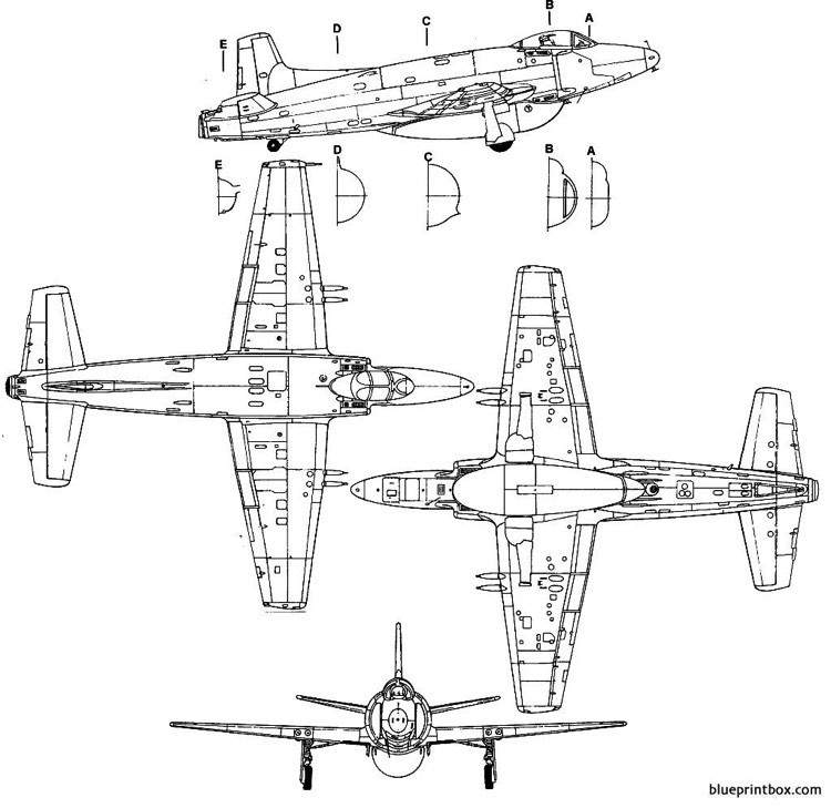 supermarine attaker model airplane plan