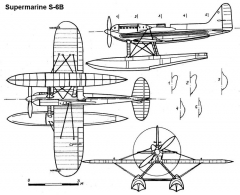 supermarine s6b 3v model airplane plan